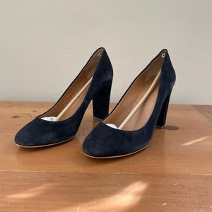 J.Crew Black Suede Pumps Size 10